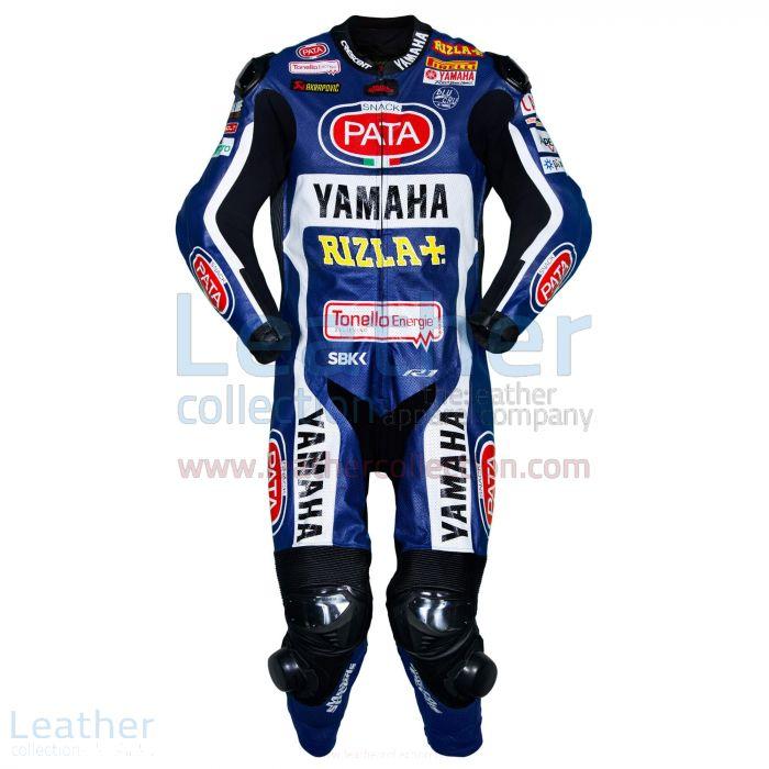 Michael van der Mark Yamaha SBK 2017 Race Leather Suit front view