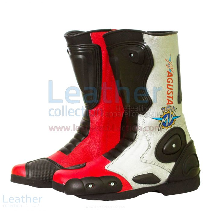 MV Agusta Leather Biker Boots side