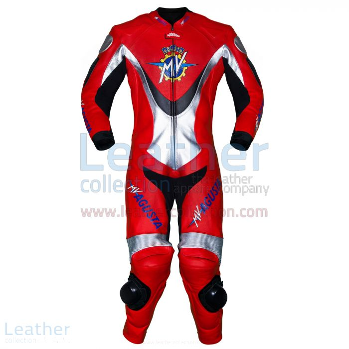 MV Agusta Racing Leather Suit front view