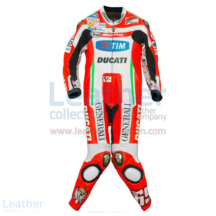 Nicky Hayden Ducati 2012 MotoGP Cueros Frente
