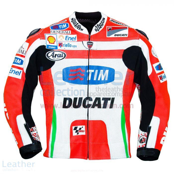 Nicky Hayden Ducati 2012 MotoGP Leather Jacket front view