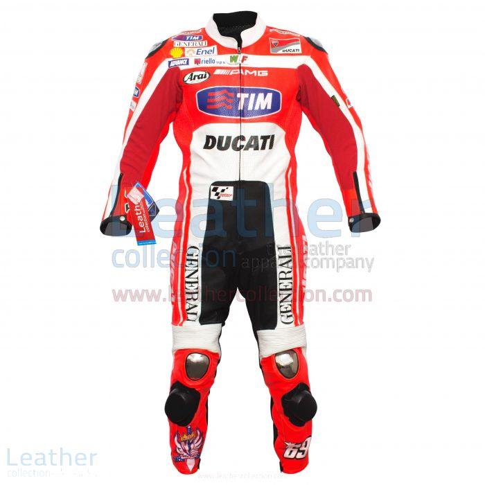 Nicky Hayden Ducati MotoGP 2012 Race Leather Suit front