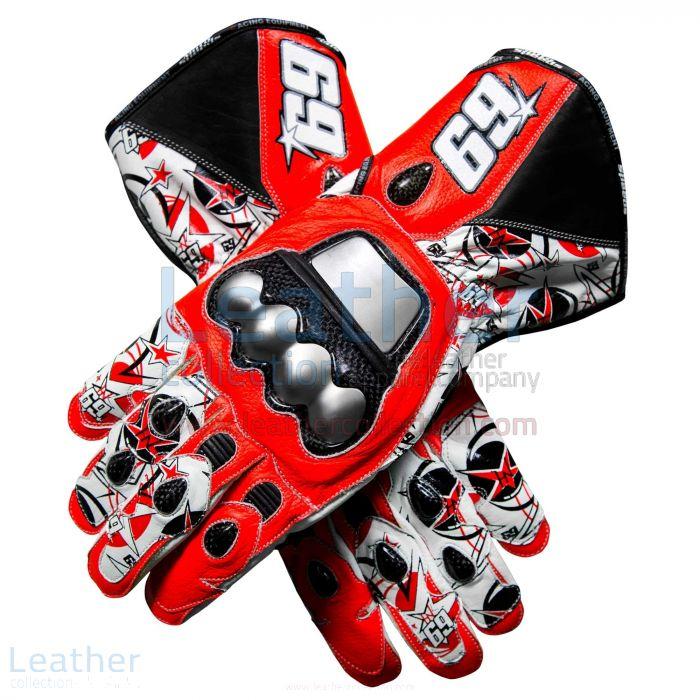 Nicky Hayden GP 2013 Motorbike Gloves upper view