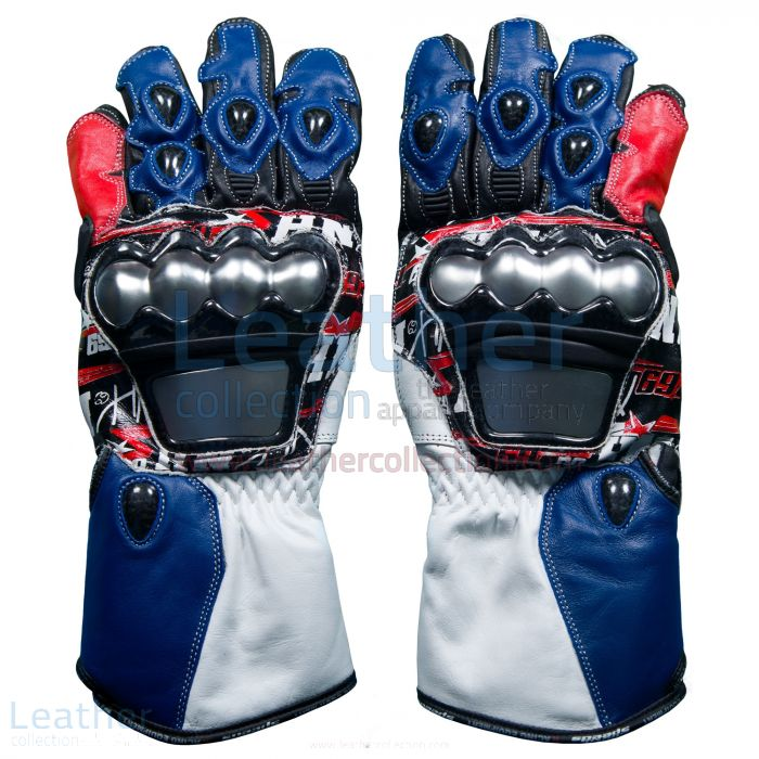 Nicky Hayden WSBK 2017 Leather Racing Gloves upper view