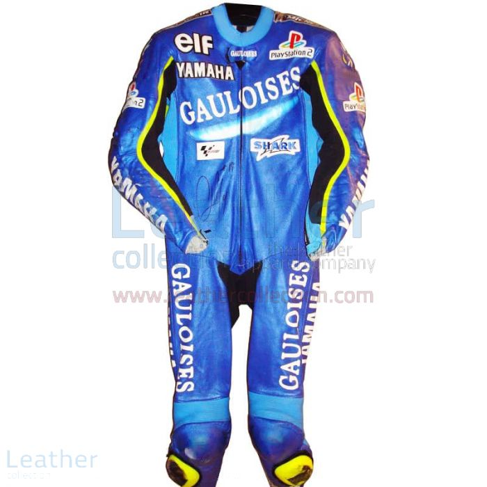 Olivier Jacque GP 2002 Yamaha Racing Leathers Front View