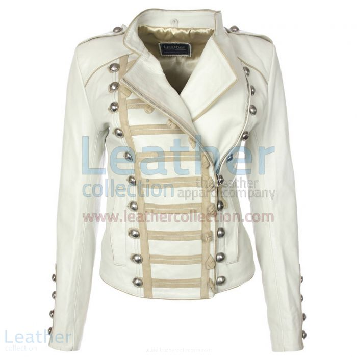 Princess Leather Jacket White front view