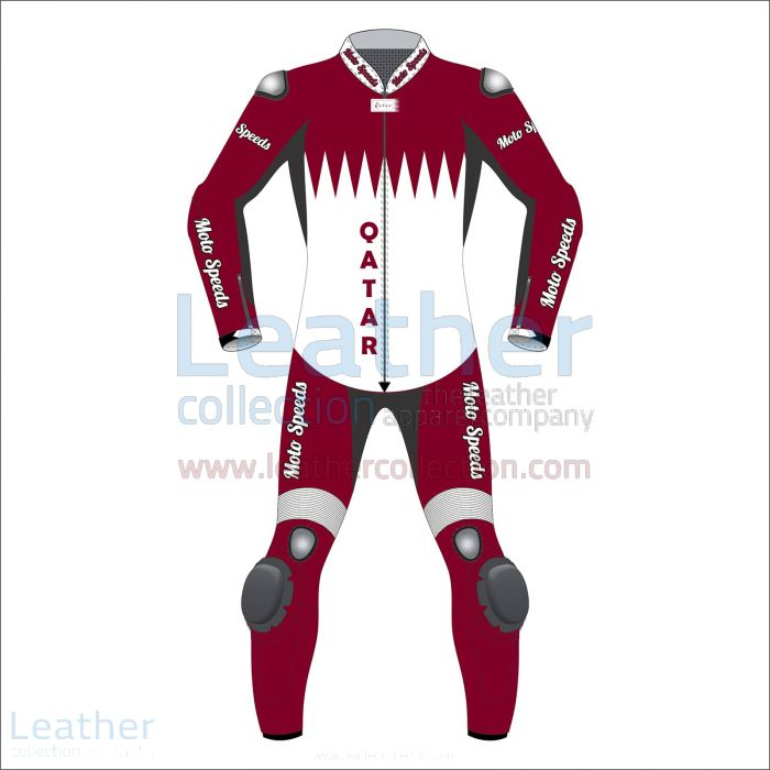 Qatar Flag Motorbike Race Suit front view