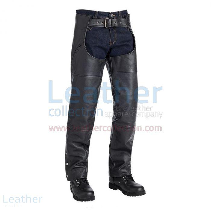 Richmond Biker Fashion Leather Chaps right view