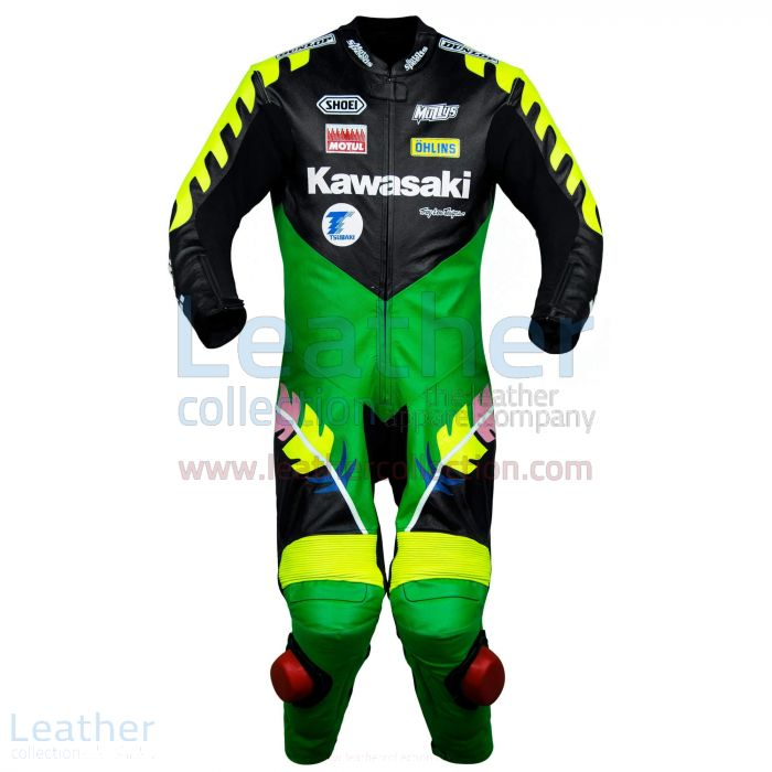 Scott Russell Kawasaki GP 1993 Leather Suit front view