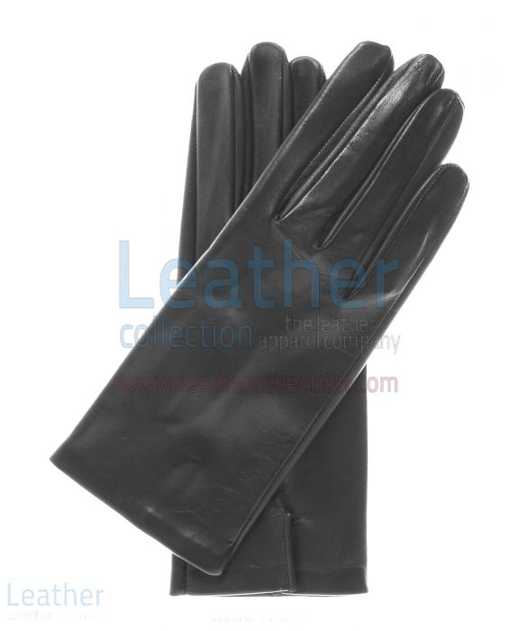 Silk Lined Leather Fashion Gloves upper view