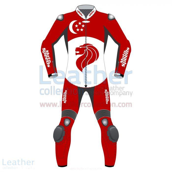 Singapore Flag Moto Suit front view