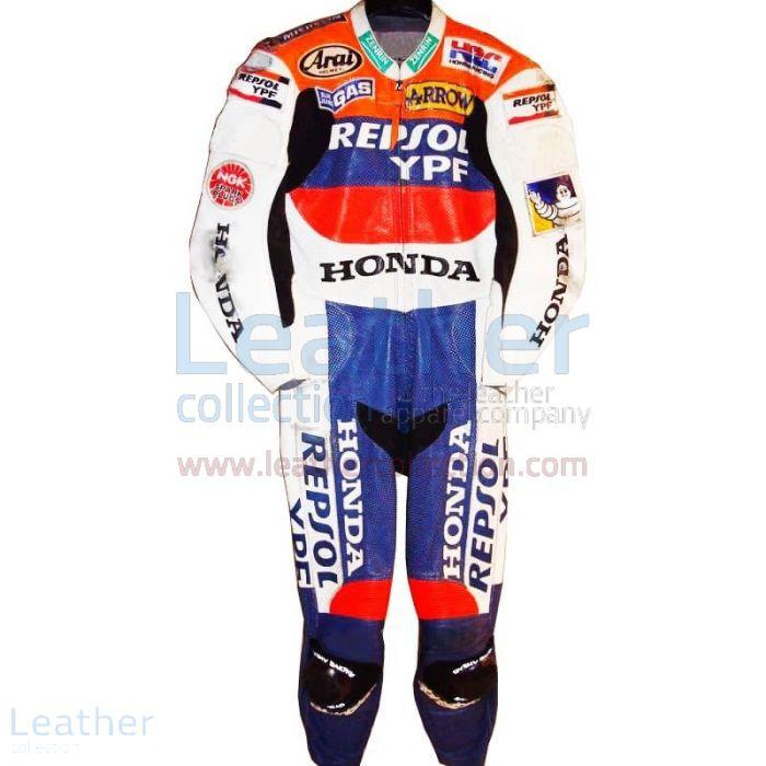 Tadayuki Okada Honda Repsol GP 2000 Moto Leathers front view