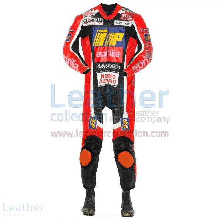 Tetsuya Harada Aprilia GP 1999 Racing Leathers front