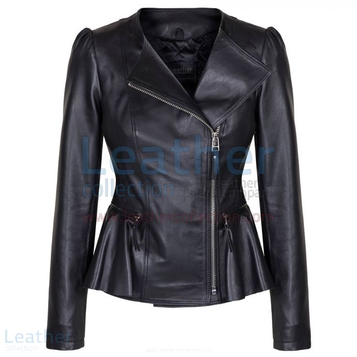 The Empress Fashion Leather Jacket For Ladies front view
