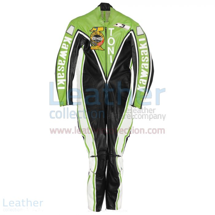 Toni Mang Kawasaki GP 1982 Leather Suit front