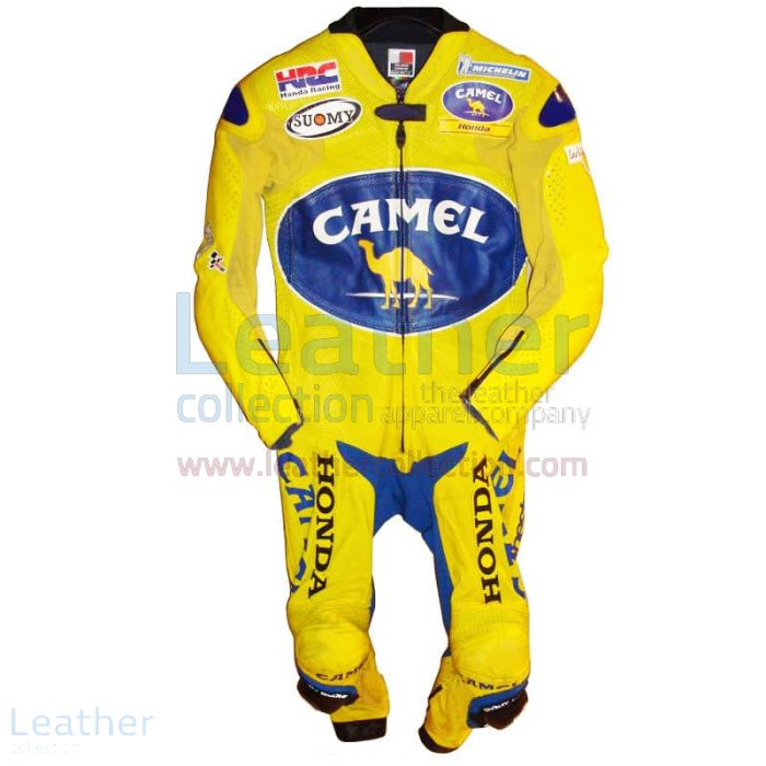 Troy Bayliss Camel Honda GP 2005 Leathers front view