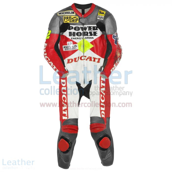 Troy Corser Ducati WSBK 1996 Leather Suit front