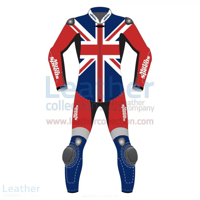 United Kingdom Flag Motorcycle Riding Suit front view