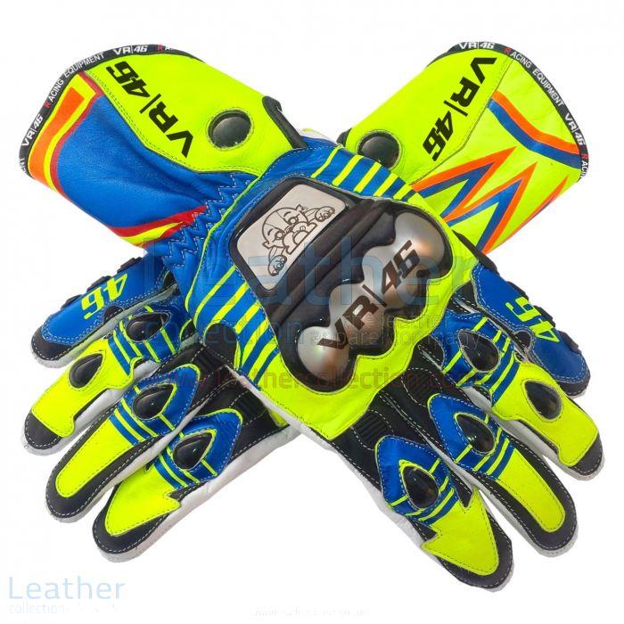 Valentino Rossi MotoGP 2015 Race Gloves upper view