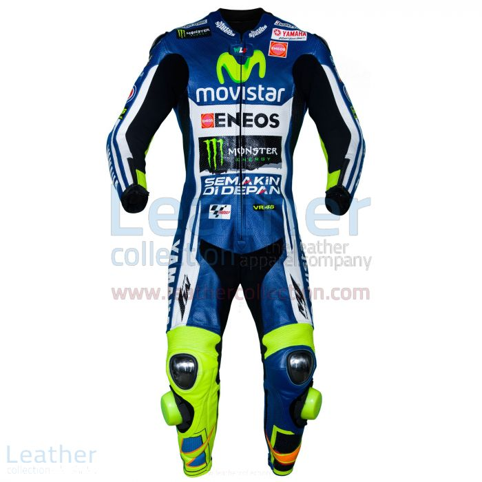 Valentino Rossi Movistar Yamaha M1 MotoGP Leathers front view