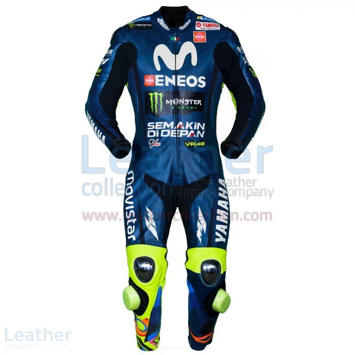 Valentino Rossi Movistar Yamaha MotoGP 2018 Race Suit front view