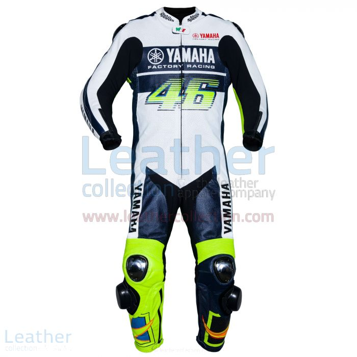 Valentino Rossi VR46 Yamaha Leather Suit front