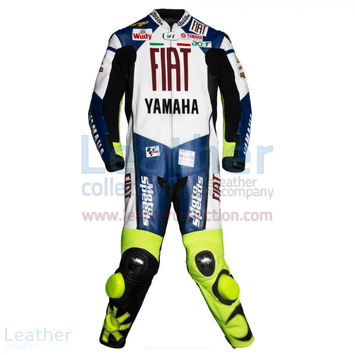 Valentino Rossi Yamaha Fiat MotoGP 2007 Leathers front