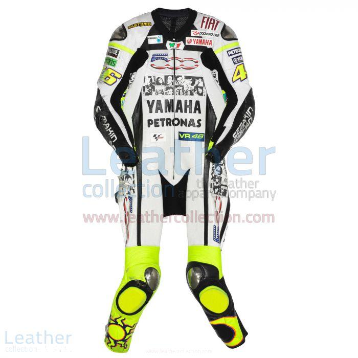 Valentino Rossi Yamaha Petronas MotoGP 2010 Suit front