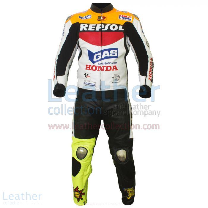 Valentino Rossi Repsol Honda MotoGP 2003 Leathers 2 Piece front