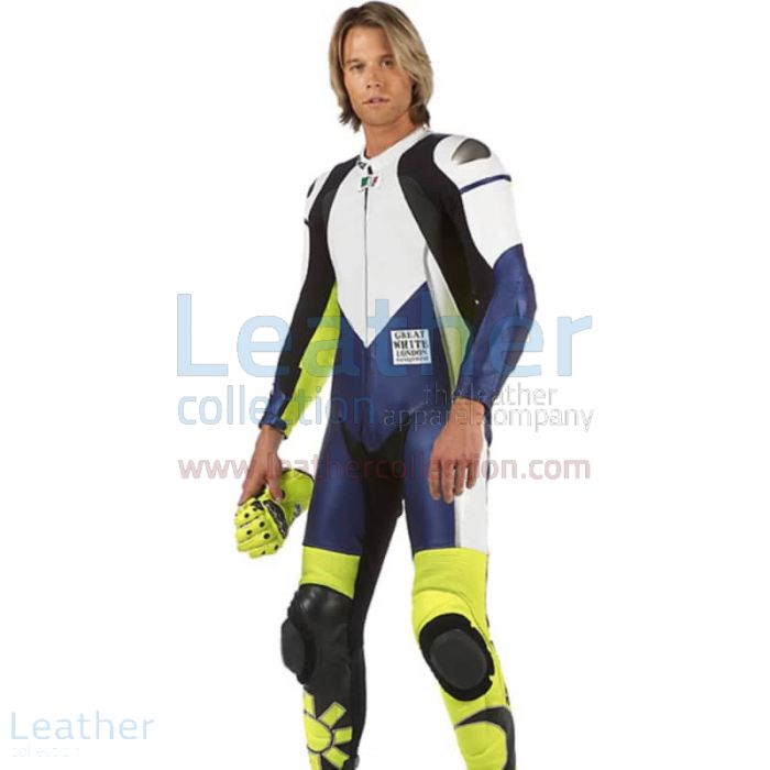 VR-46 Racing Leather Suit front