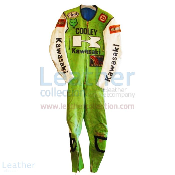 Wes Cooley Kawasaki AMA 1983 Leather Suit front