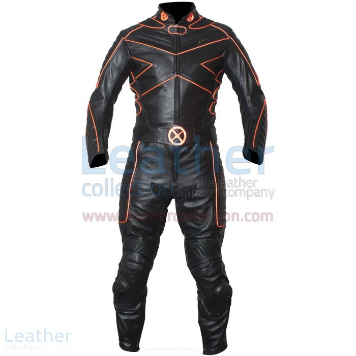X-MEN Motorcycle Racing Leather Suit front view