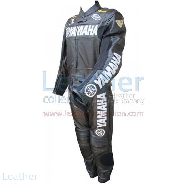 Yamaha Motorbike Leather Suit Black side